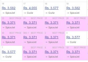 cleartrip_cheapest_fare